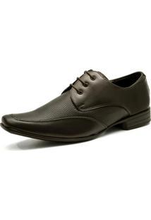 Sapato Social Salazari Marrom Com Cadarço