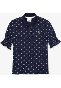 Camisa Polo Lacoste Live Slim Fit Estampada Feminina - Feminino