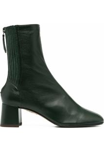 Aquazzura Ankle Boot Com Salto Bloco - Verde