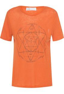 Camiseta Feminina Paula - Laranja