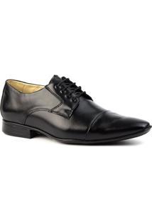 Sapato Social Masculino 3047 Em Couro Jade Doctor Shoes - Masculino-Preto
