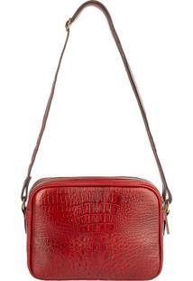Bolsa Andrea Vinci Quadrada Diana Vermelha - Vermelho - Feminino - Dafiti