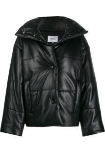 Nanushka Hide Puffer Jacket - Preto