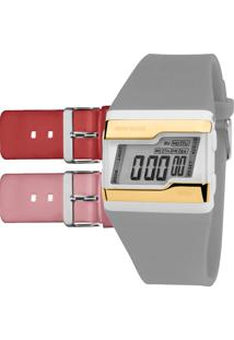 54f5dae7f6f78 Eclock. Relógio Technos Mormaii Clock Feminino Digital Casual Fivela Troca  Fzv T8x Pulseira