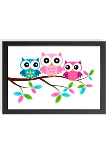 Quadro Love Decor Decorativo Infantil Owl Family