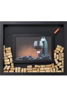 Quadro Porta-Rolhas Vini Madeira