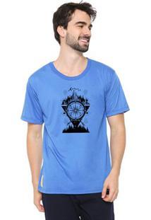 Camiseta Masculina Eco Canyon Bússola Azul