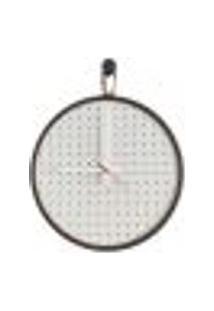 Relógio Short Strip Marrom Alça Caramelo Mostrador Branco Perfurado 40 Cm