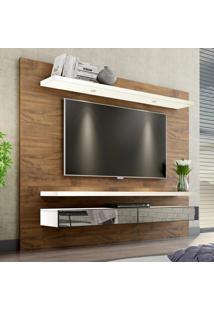 Painel Para Tv 220 Nobre/Off White Com Espelho Tb108E - Dalla Costa