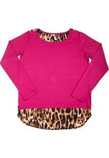 Blusa Via Costeira Estampada Feminina - Feminino-Pink