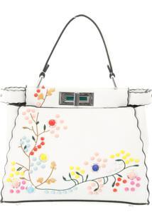 Bolsa Aha Com Flores Branca
