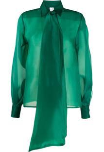 Ultràchic Blusa Oversized Com Laço - Verde