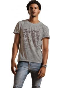 Camiseta Masculina Joss Mescla Club Pool Cinza