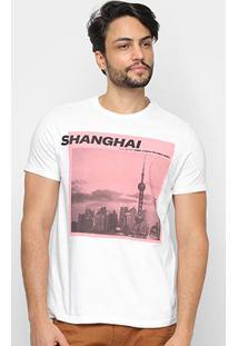 Camiseta Ellus Living In The Urban Jungle Masculina - Masculino-Branco