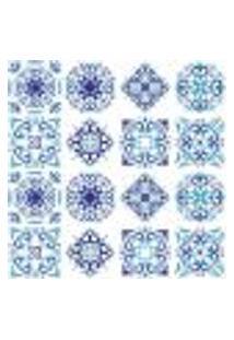 Adesivo De Azulejo - Ladrilho Hidráulico - 348Azpe
