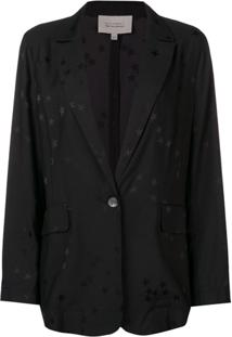 Equipment Blazer Estampado - Preto
