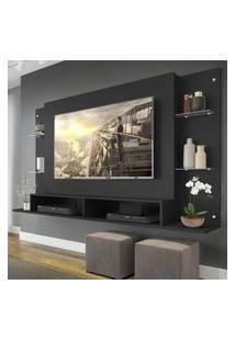 Painel Nairóbi Multimóveis Para Tv De Até 60 Polegadas Com Nicho - Preto