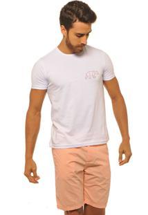 Camiseta Masculina Joss Logo Urso Vermelho Branco
