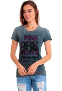 Camiseta Joss Pink Floyd Feminina - Feminino-Cinza