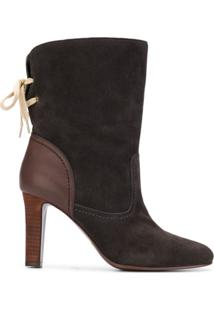See By Chloé Ankle Boot De Couro - Cinza