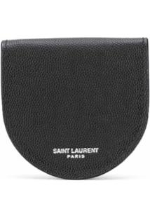 Saint Laurent Porta-Moedas Com Logo - Preto