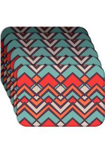 Jogo Americano Love Decor Abstract Color Kit Com 6 Peças