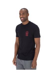 Camiseta Volcom Slim Crowd Control - Masculina - Preto