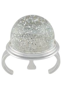 Mm6 Maison Margiela Anel De Glitter - Metálico