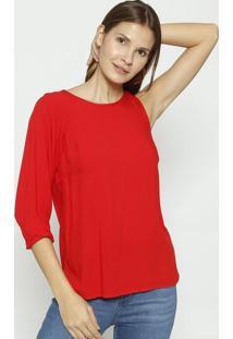 Blusa Lisa Assimã©Trica - Vermelha - Colccicolcci