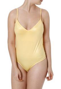 Body Feminino Amarelo