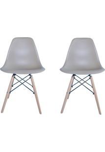 Kit 2 Cadeiras Eiffel Facthus Charles Eames Em Abs Nude.