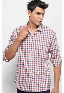 Camisa Xadrez Manga Longa Calvin Klein Regular Monte Carlo Exclus Masculina - Masculino