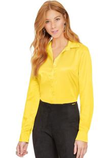 Camisa De Cetim Principessa Talita Amarela