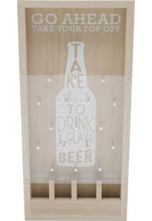 Quadro Decorativo Game Beer Bege 40X19X5 Cm