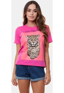 T-Shirt Onã§A Pink Multicolorido - Rosa - Feminino - Dafiti