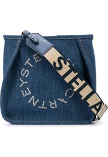 Stella Mccartney Bolsa Transversal Mini Com Logo - Azul