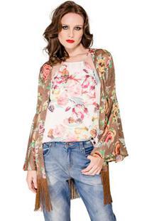 Kimono Print Floral Alphorria A.Cult