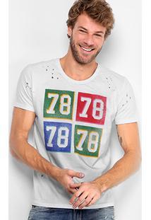 Camiseta Calvin Klein Furinhos 78 Masculina - Masculino-Branco