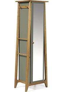 Armário Multiuso 1 Porta Stoka Maxima Nogal/Cinza