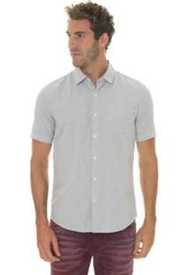 Camisa Timberland Suncook River Small Gingham Slim Masculina - Masculino-Azul