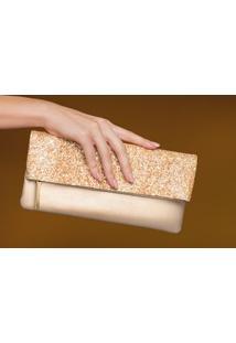 Clutch Luxo Dourado