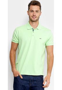 Camisa Polo Gangster Piquet Com Elastano Masculina - Masculino-Verde Claro