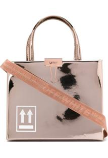 Off-White Bolsa Box Mini - Rosa