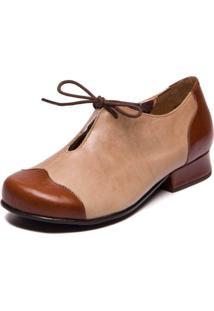 Sapato Feminino Jatoba / Taupe - Mary Jane 7716
