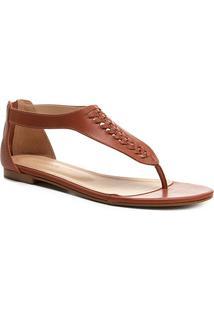 c2eddb347b R$ 99,90. Zattini Rasteiras Shoestock Marrom Couro ...
