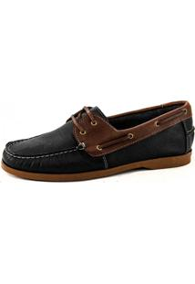 Mocassim Dockside Couro Látego Platinum Mr. Light - 040 - Preto Café
