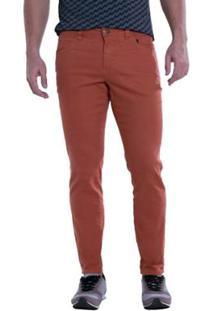 Calça Jeans Denuncia Skinny Telha Masculina - Masculino
