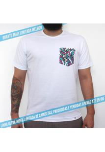 Tipocali Padronagem - Camiseta Clássica Com Bolso Masculina