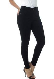 Calça Jeans Cigarrete Linda Z Mid Rise Skinny 206621316 Preto 46 - Feminino