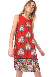 Vestido Desigual Curto Vento Vermelho